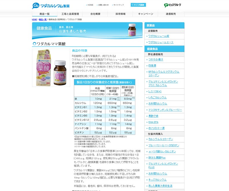ワダカルママ葉酸(ワダカルシウム製薬)の効果は?口コミ・評判・評価レビュー